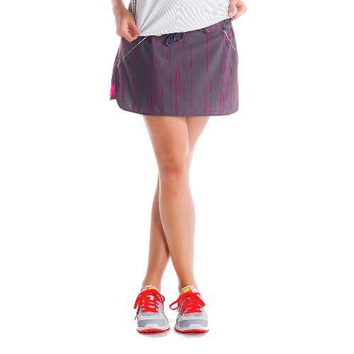 Womens Lole Speed Fitness Skirts - Storm/Broken Stripe XS