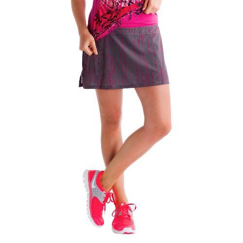 Womens Lole Sprint Skort Fitness Skirts - Storm/Broken Stripe XL