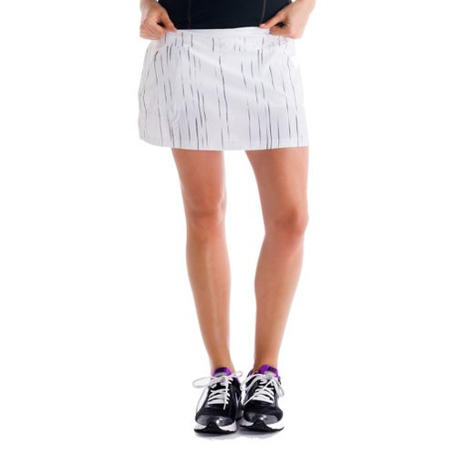 Womens Lole Sprint Skort Fitness Skirts - White/Broken Stripe XS