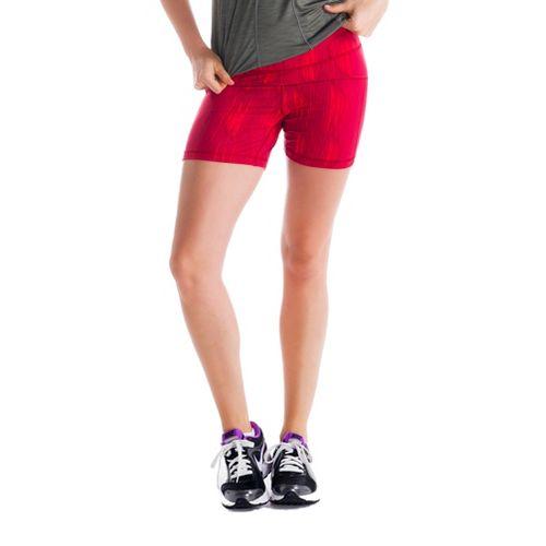 Womens Lole Balance Unlined Shorts - Red Sea/Azteck M