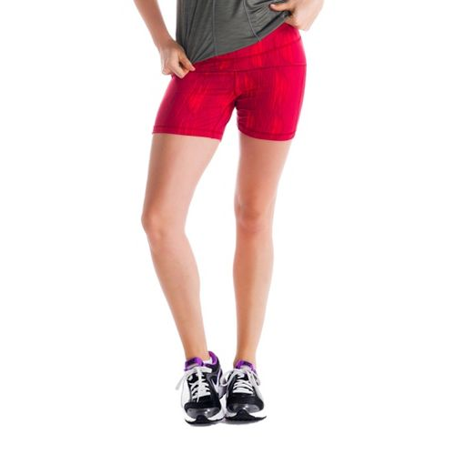 Womens Lole Balance Unlined Shorts - Red Sea/Azteck S