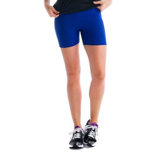 Womens Lole Balance Unlined Shorts - Solidate Blue L