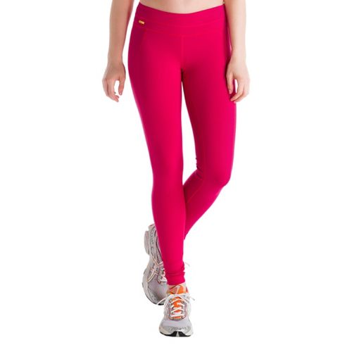 Womens Lole Motion Legging Fitted Tights - Red Sea M