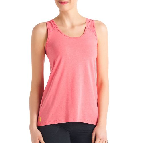 Womens Lole Savasana 2 Tanks Technical Tops - Pink Coral M