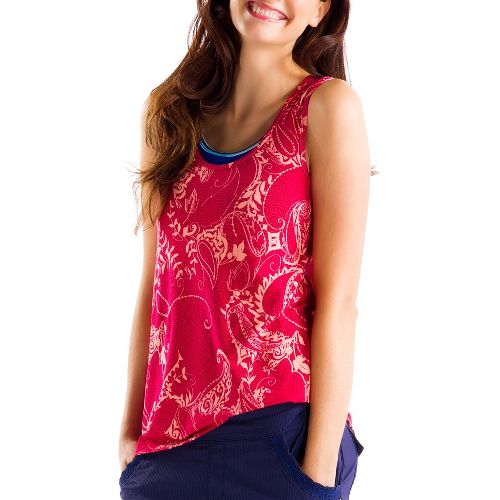 Womens Lole Savasana 2 Tanks Technical Tops - Red Sea/Anatolia L