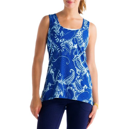 Womens Lole Savasana 2 Tanks Technical Tops - True Blue/Anatolia XS