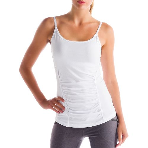 Womens Lole Breathe Tanks Technical Tops - White L