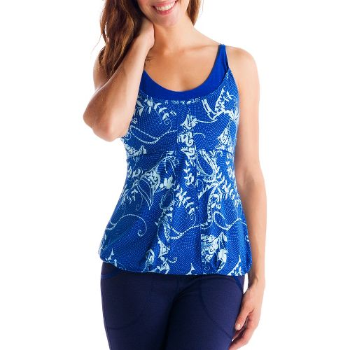 Womens Lole Breathing Tank Sport Top Bras - True Blue/Anatolia XS