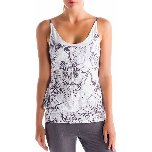 Womens Lole Breathing Tank Sport Top Bras - White/Anatolia L