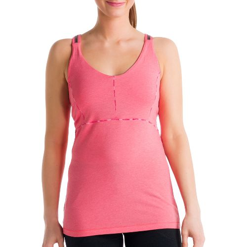 Womens Lole Warrior Tank Sport Top Bras - Pink Coral L