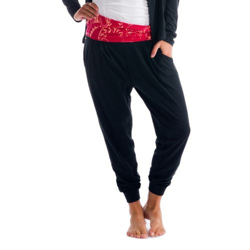 Womens Lole Padmasana Full Length Pants - Black XL