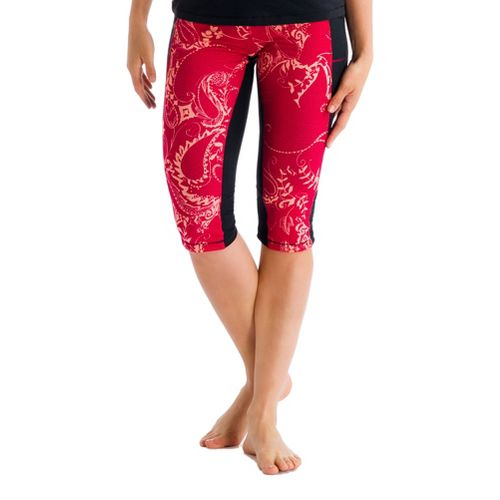 Womens Lole Padma Capri Tights - Red Sea/Anatolia XS