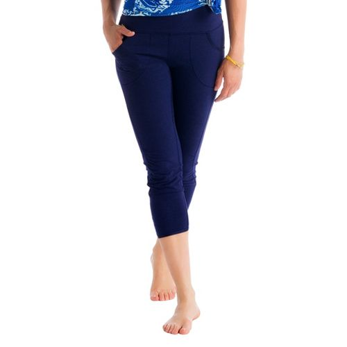 Womens Lole Shiva Capri Tights - Evening Blue S