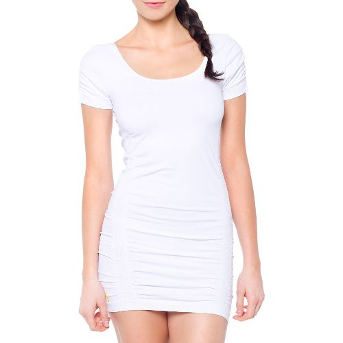 Womens Lole Limber Tunic Short Sleeve Technical Tops - White L/XL