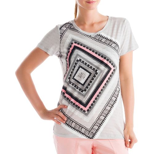 Womens Lole Key Short Sleeve Non-Technical Tops - Blossom Pink S