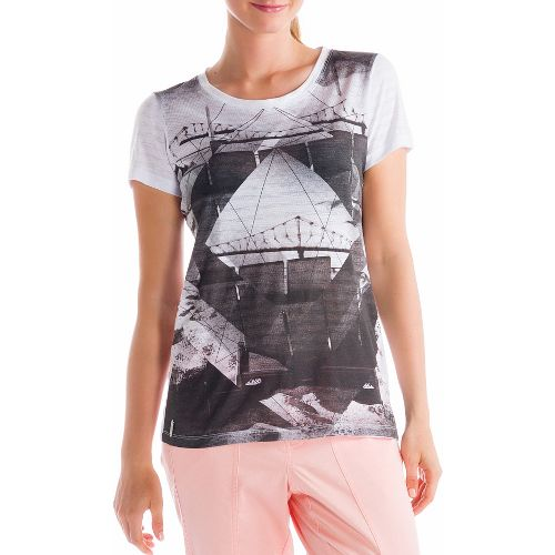 Womens Lole Key Short Sleeve Non-Technical Tops - Grey XS