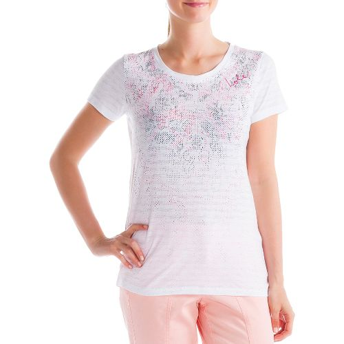 Womens Lole Key Short Sleeve Non-Technical Tops - White S
