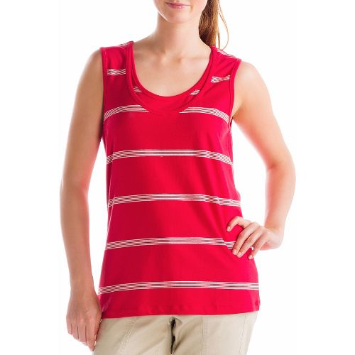 Womens Lole Hug Sleeveless Technical Tops - Pomegranate/Mineral XS