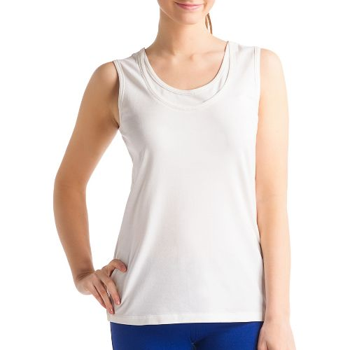 Womens Lole Hug Sleeveless Technical Tops - Vanilla S