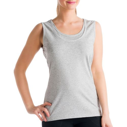 Womens Lole Hug Sleeveless Technical Tops - Warm Grey L