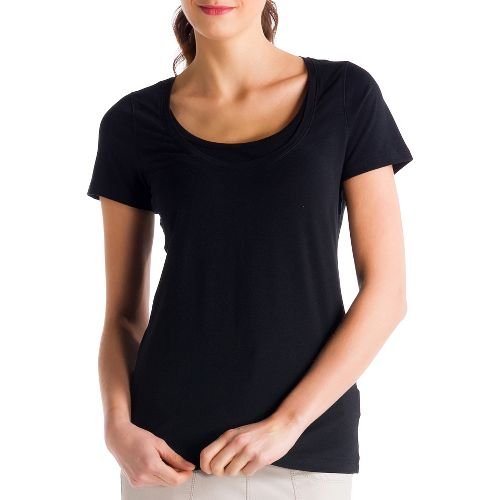 Womens Lole Kiss Short Sleeve Technical Tops - Black XS