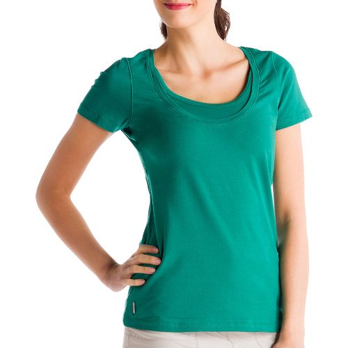 Womens Lole Kiss Short Sleeve Technical Tops - Glade Green L