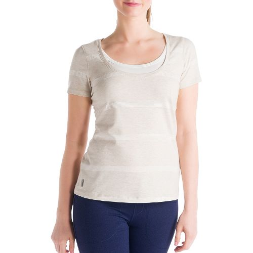 Womens Lole Kiss Short Sleeve Technical Tops - Mineral S