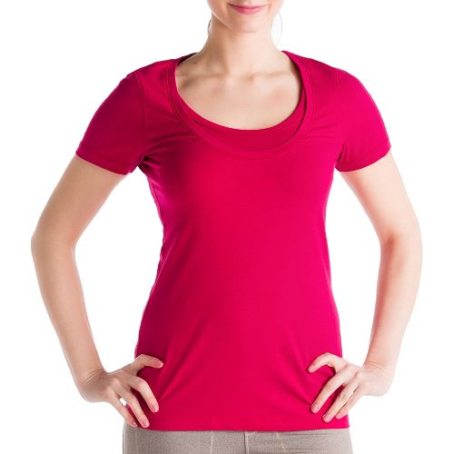 Womens Lole Kiss Short Sleeve Technical Tops - Red Sea XL