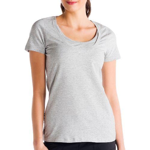 Womens Lole Kiss Short Sleeve Technical Tops - Warm Grey XS