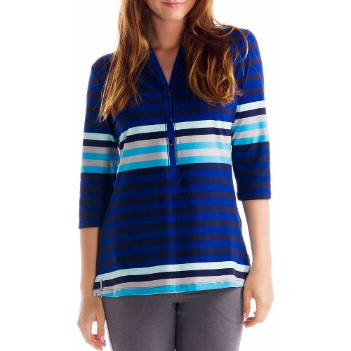 Womens Lole Adore Long Sleeve No Zip Technical Tops - Solidate Blue XS