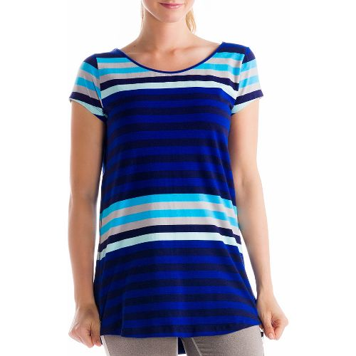 Womens Lole Patricia Tunic Short Sleeve Technical Tops - Solidate Blue XL