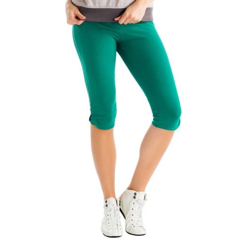 Womens Lole Serene Capri Tights - Glade Green S