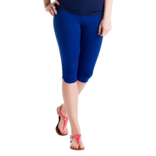 Womens Lole Serene Capri Tights - Solidate Blue L