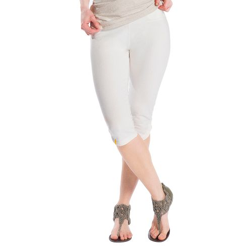 Womens Lole Serene Capri Tights - Vanilla M