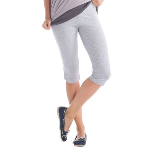 Womens Lole Serene Capri Tights - Warm Grey S