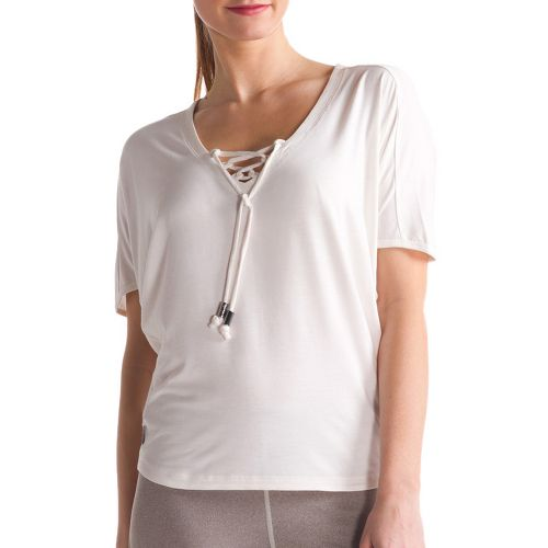 Womens Lole Audrey 2 Short Sleeve Technical Tops - Cloud M
