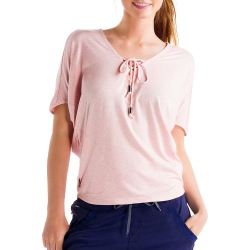 Womens Lole Audrey 2 Short Sleeve Technical Tops - Rose Water S