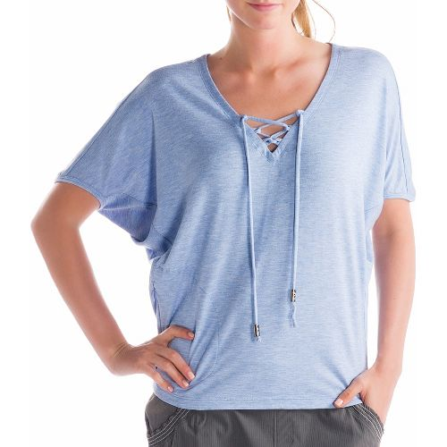 Womens Lole Audrey 2 Short Sleeve Technical Tops - Sail Blue S