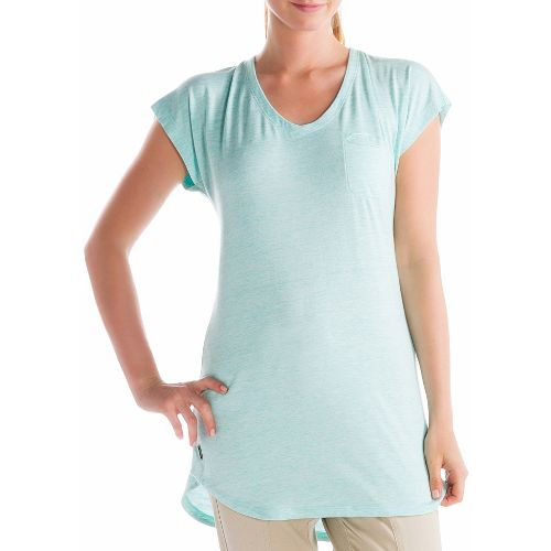 Womens Lole Anais Tunic Short Sleeve Technical Tops - Clearly Aqua S