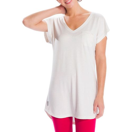 Womens Lole Anais Tunic Short Sleeve Technical Tops - Cloud S