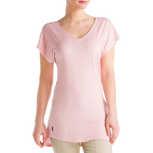 Womens Lole Anais Tunic Short Sleeve Technical Tops - Rose Water XL