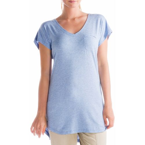 Womens Lole Anais Tunic Short Sleeve Technical Tops - Sail Blue M