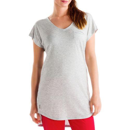 Womens Lole Anais Tunic Short Sleeve Technical Tops - Warm Grey L