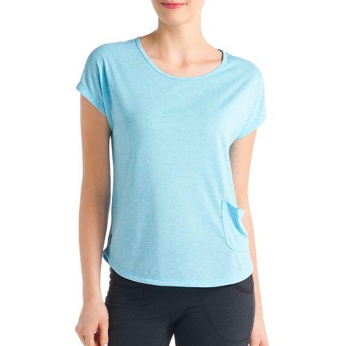 Womens Lole Lisa Short Sleeve Technical Tops - Lagoon Blue XL