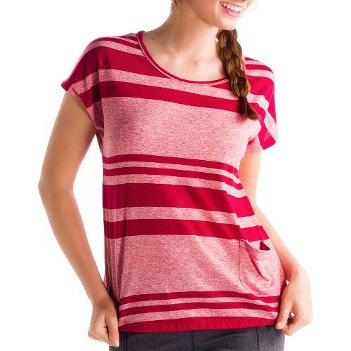 Womens Lole Lisa Short Sleeve Technical Tops - Pomegranate M