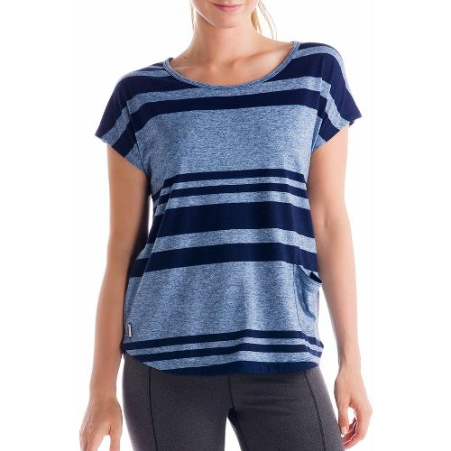 Womens Lole Lisa Short Sleeve Technical Tops - True Blue S