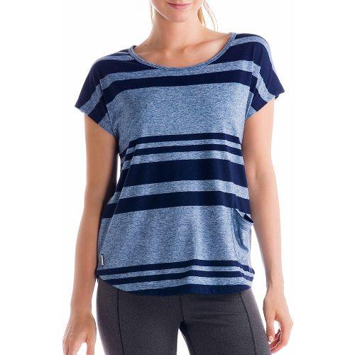 Womens Lole Lisa Short Sleeve Technical Tops - True Blue XS