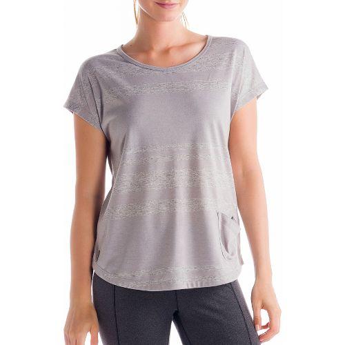 Womens Lole Lisa Short Sleeve Technical Tops - Warm Grey XL