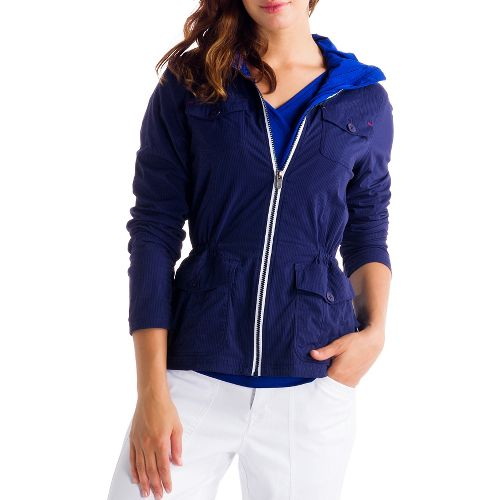 Womens Lole Postcard Outerwear Jackets - Evening Blue XS