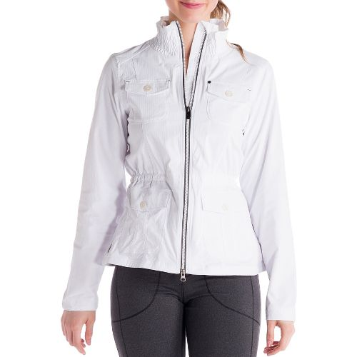 Womens Lole Postcard Outerwear Jackets - White XL